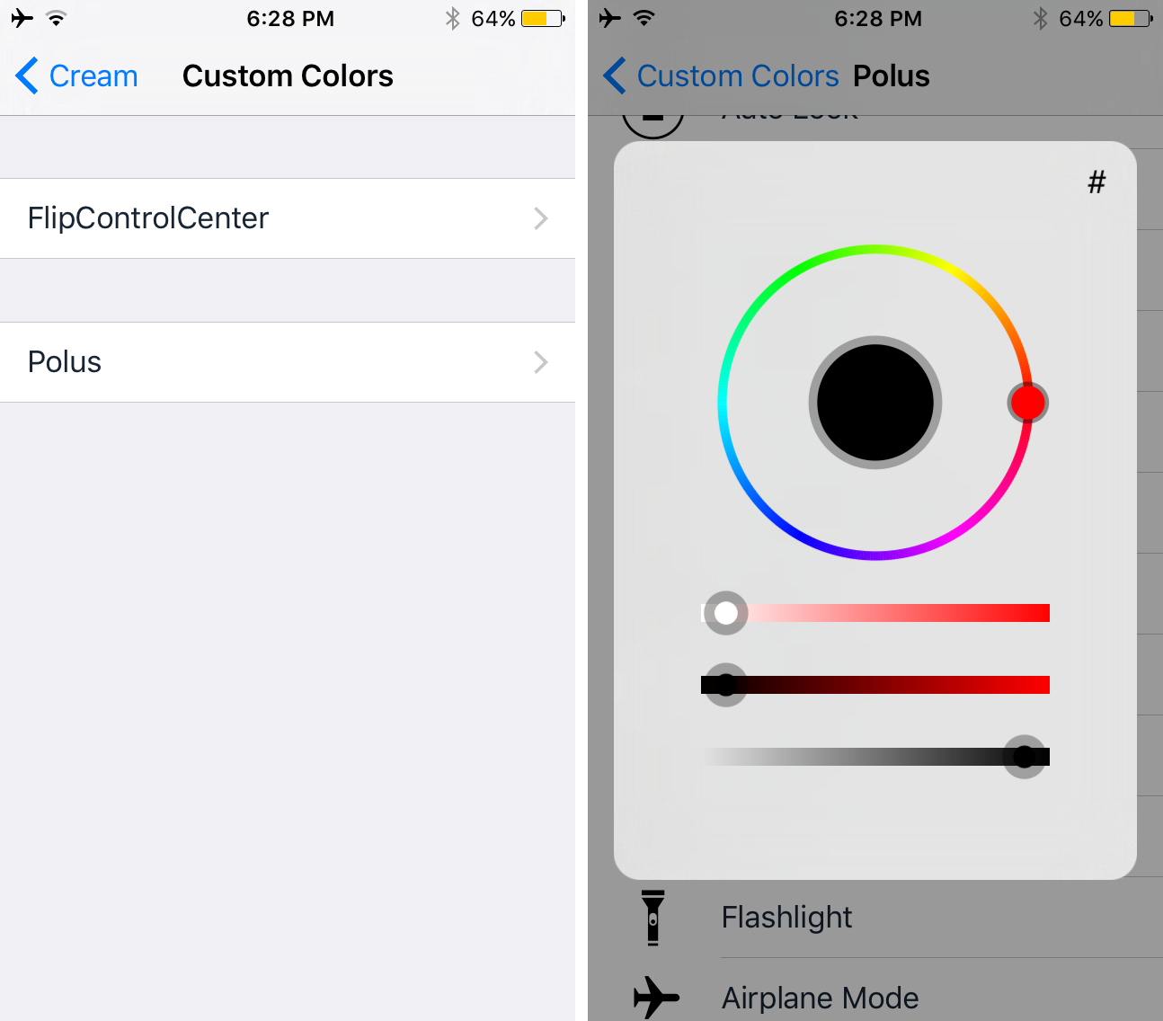 'Cream' gives your iPhone watchOS-like colored Control Center toggles