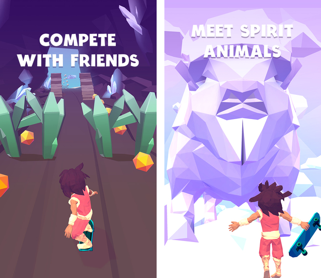 Grab Infinite Skater, a gorgeous endless runner Apple just named its new Free App of the Week