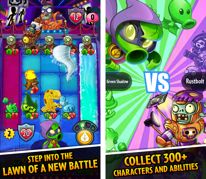 EA announces Plants vs. Zombies Heroes, a collectible card game set in the PvZ universe