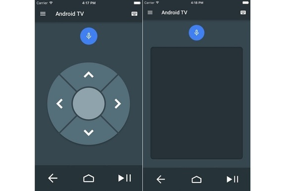 The Android TV remote app for iOS is as bare-bones as the Android version