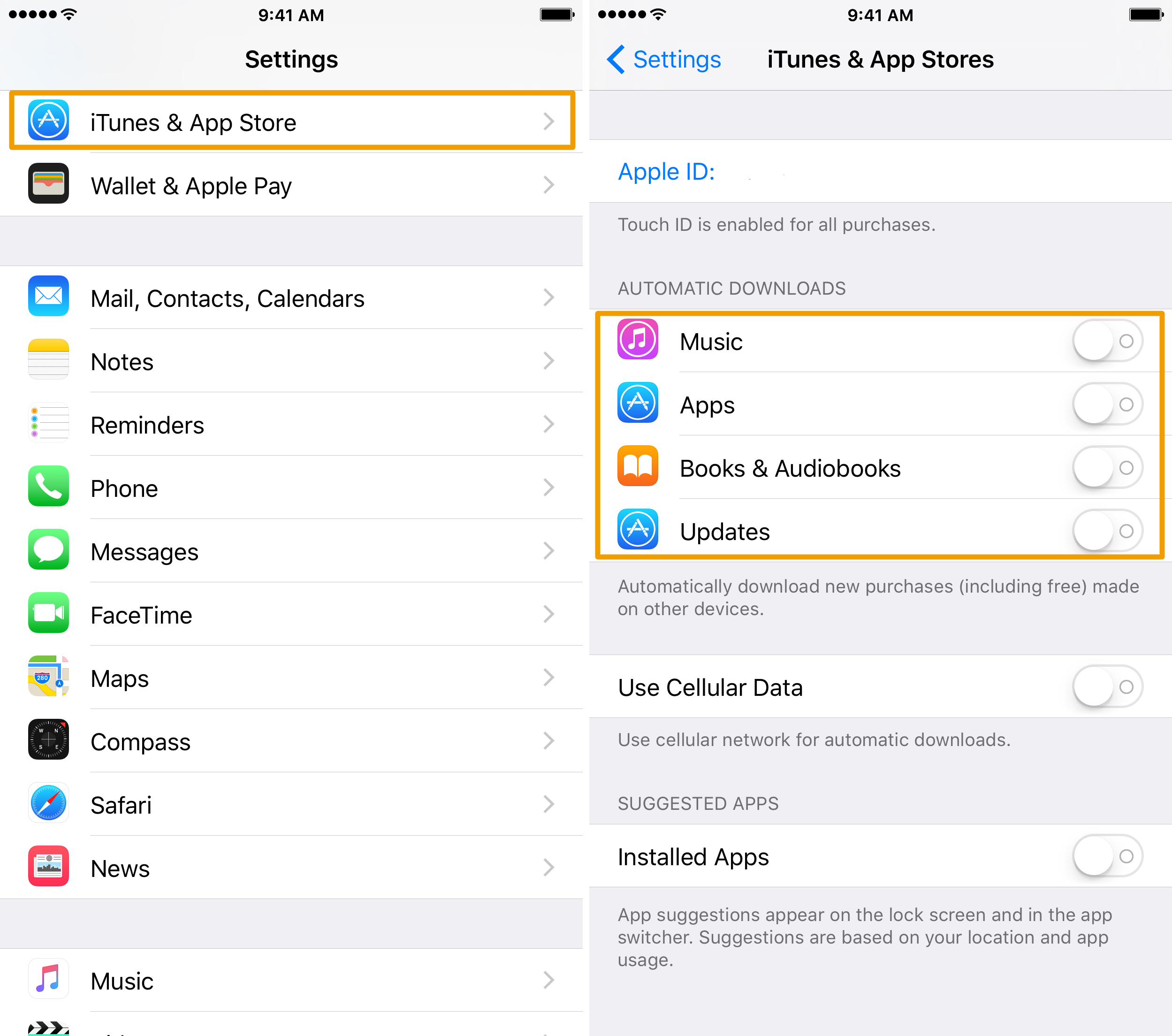 Configuring Automatic Downloads on your iPhone or iPad | Mid