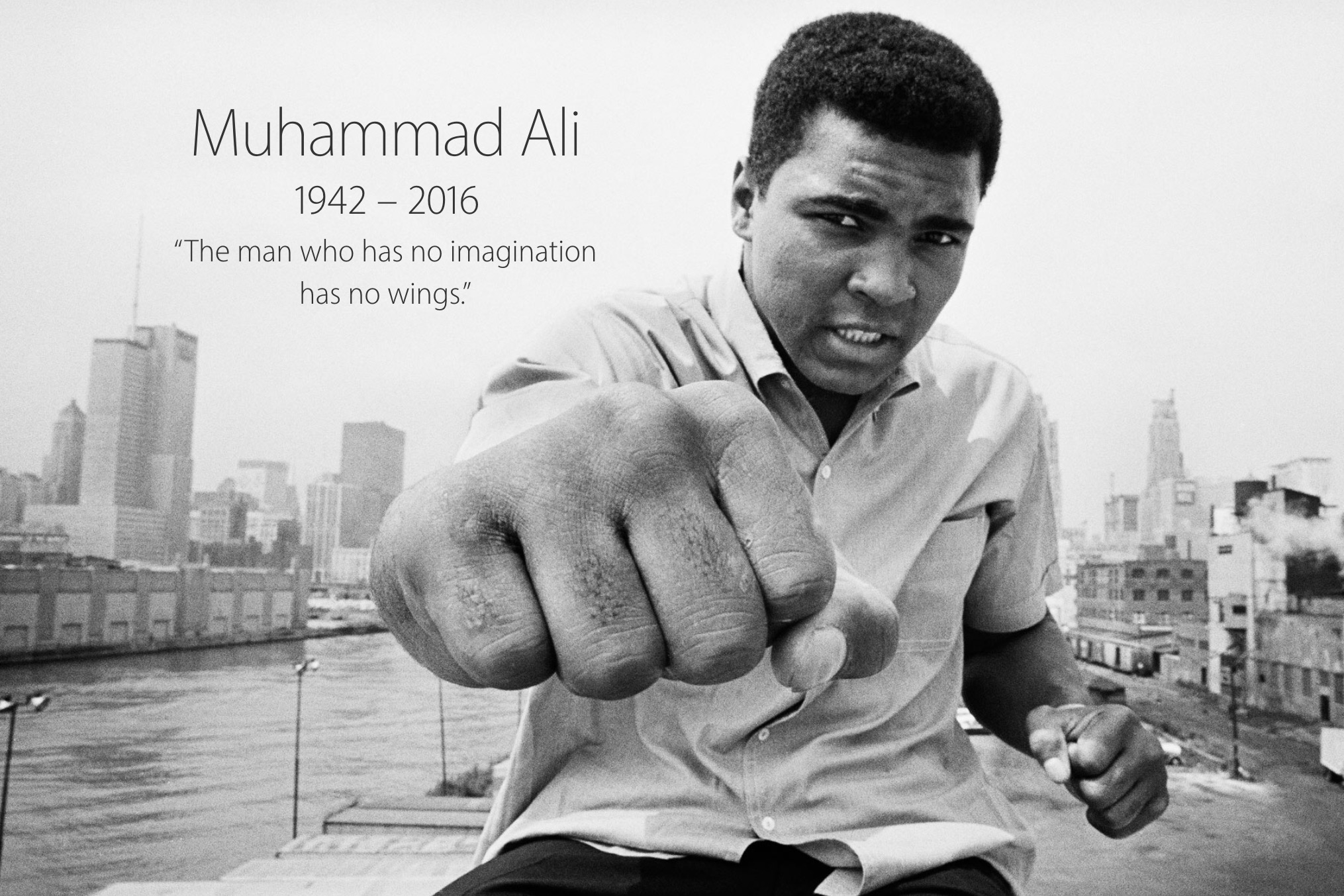 Apple Gives Homepage Tribute to Commemorate Muhammad Ali's Life