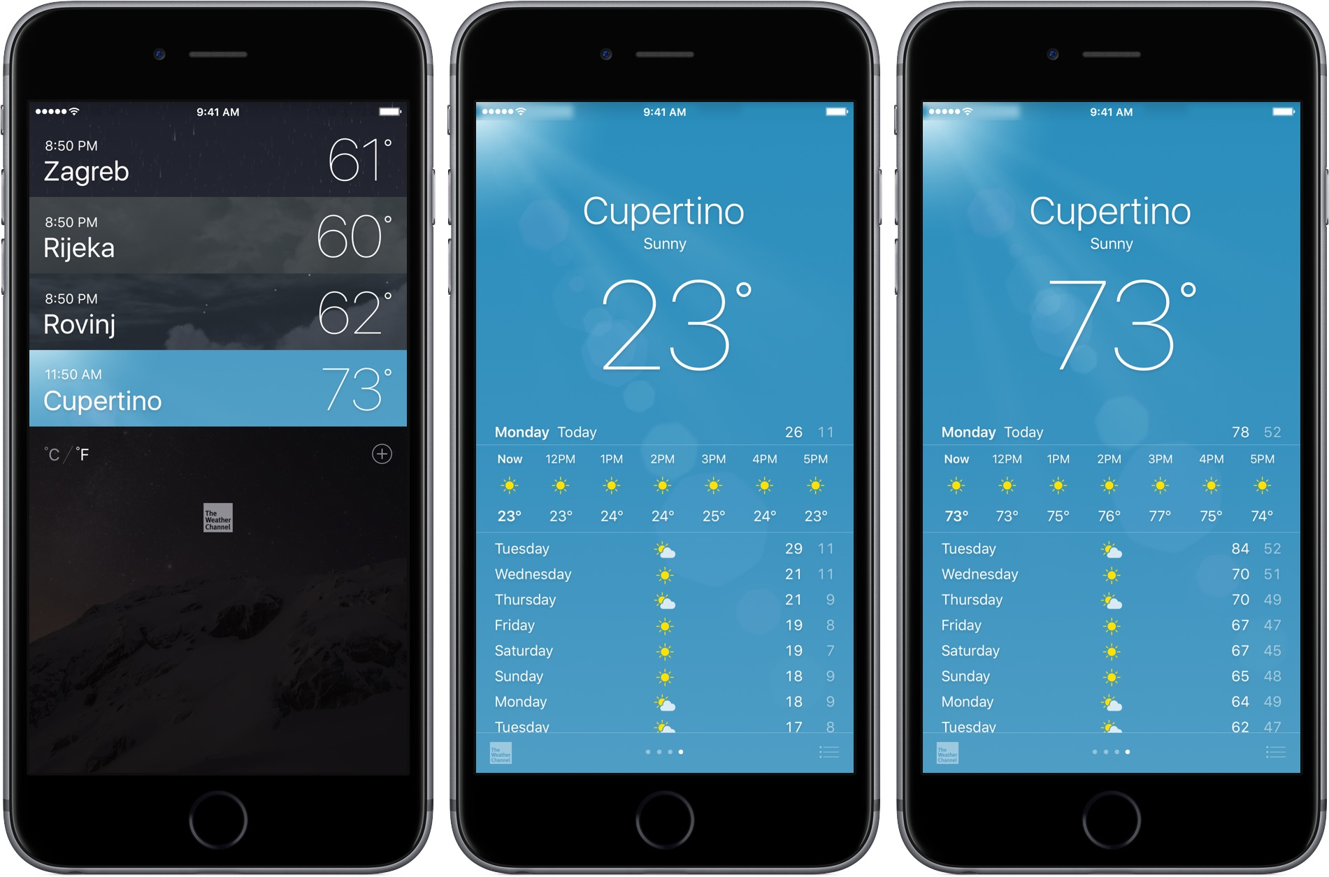 How to switch between celsius and fahrenheit on your apple for Application iphone temperature interieur