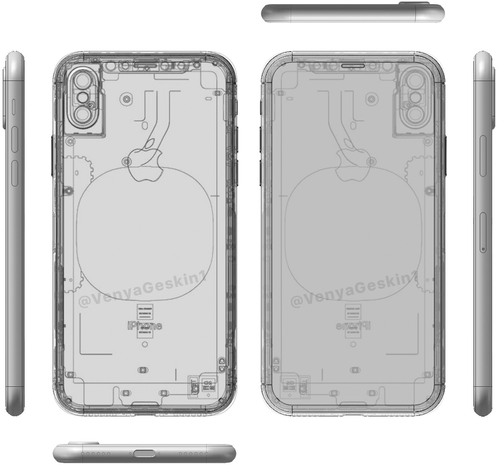 Benjamin Geskin Tweeted Out A New Image Of His Updated Cad Model Iphone 8