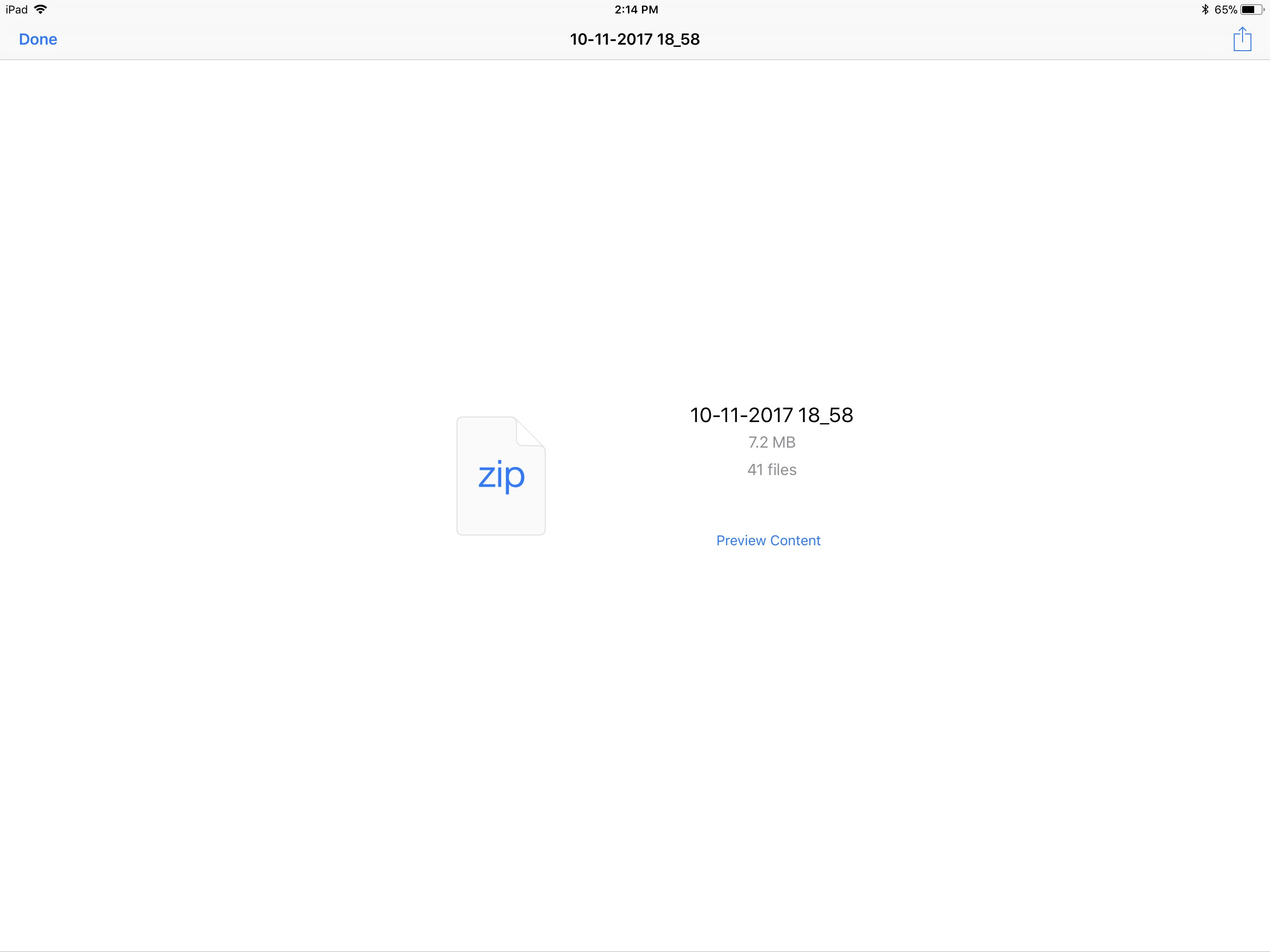 how to open a zip file on ipad air