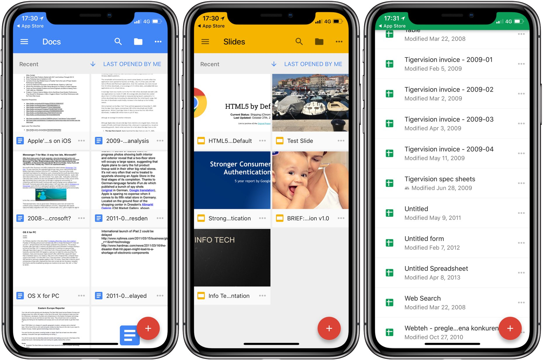 Google updates Docs, Sheets and Slides with iPhone X, iOS 11 drag ...