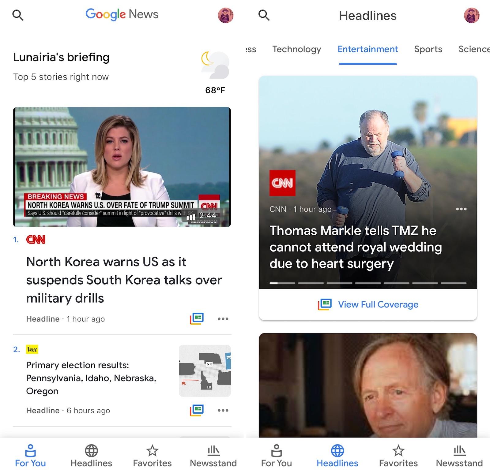 Google News briefing