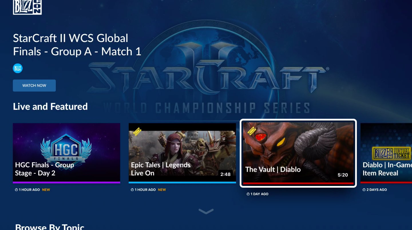 Download Blizzard's new BlizzCon TV app to stream BlizzCon 2018 on