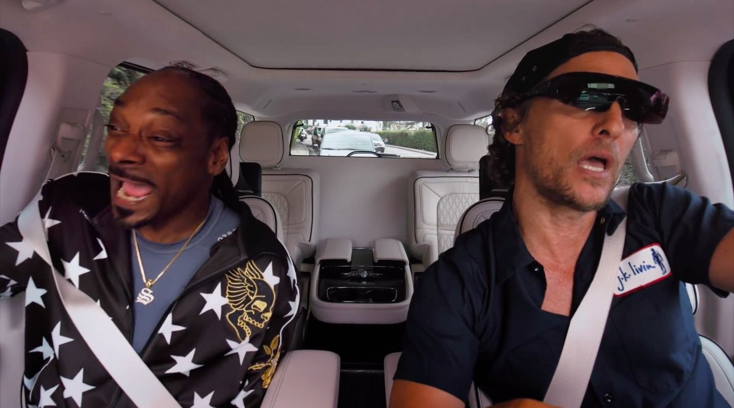 Other new celebrity pairings in Season 2 of Apple's Carpool Karaoke show are Matthew McConaughey & Snoop Dog; Weird Al Yankovich & Andy Samberg; Nick Offerman & Megan Mullally; and much more