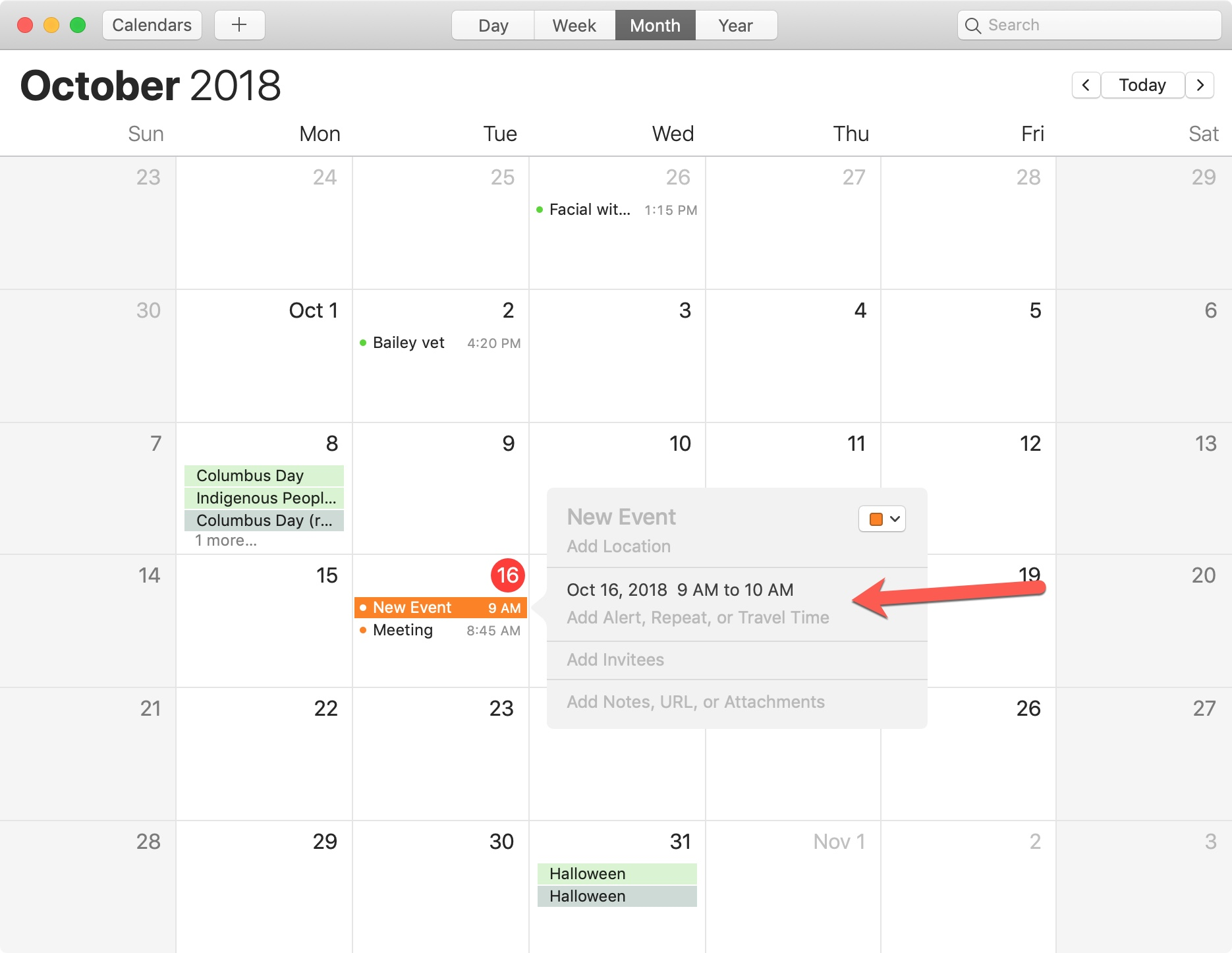 Mac Calendar New Event For File Alert