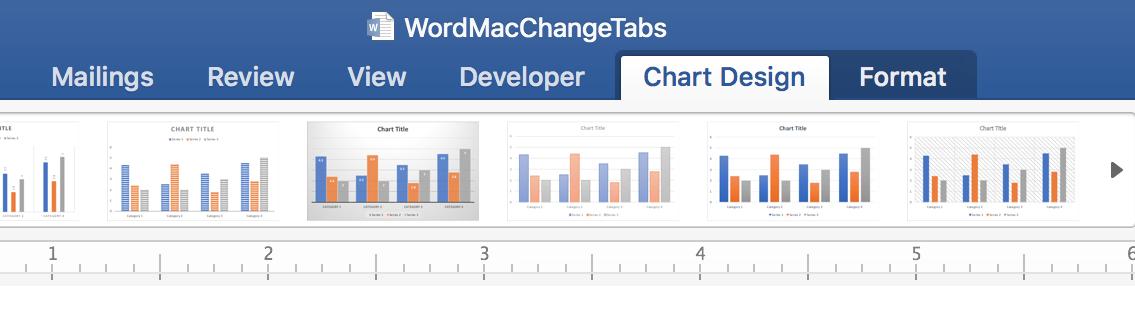 Word Tool Tabs Chart Tool Tabs