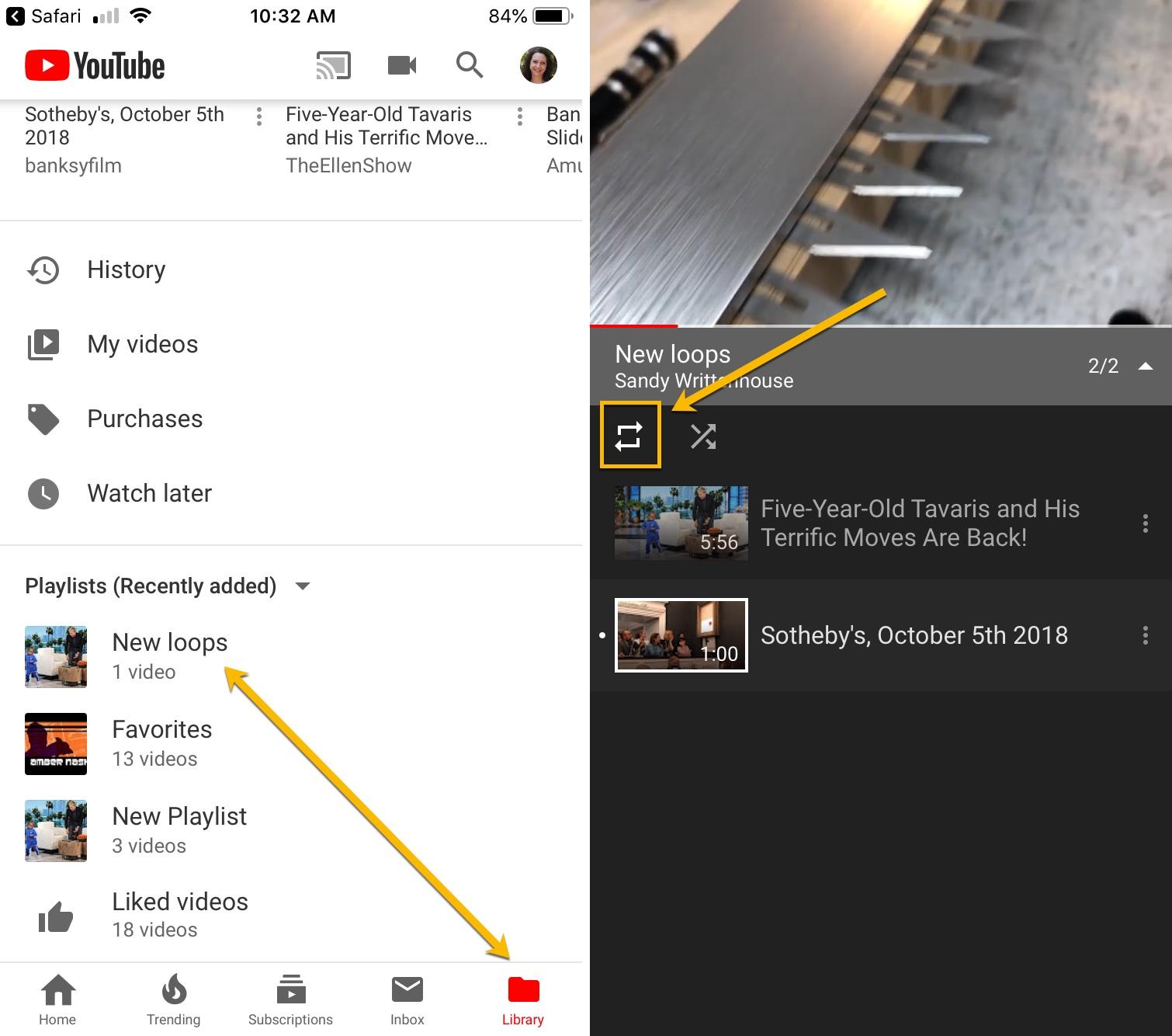 YouTube App iPhone Loop
