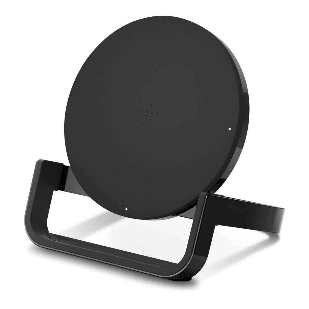belkin black round wireless charging stand