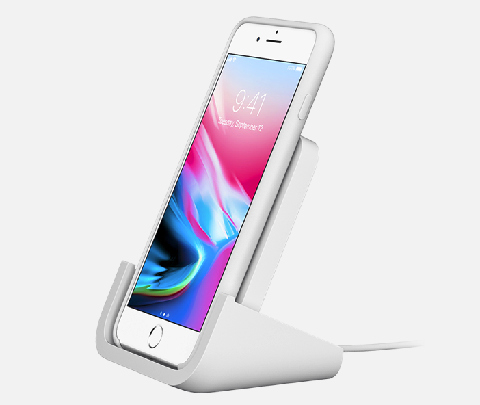logitech white wireless charging stand