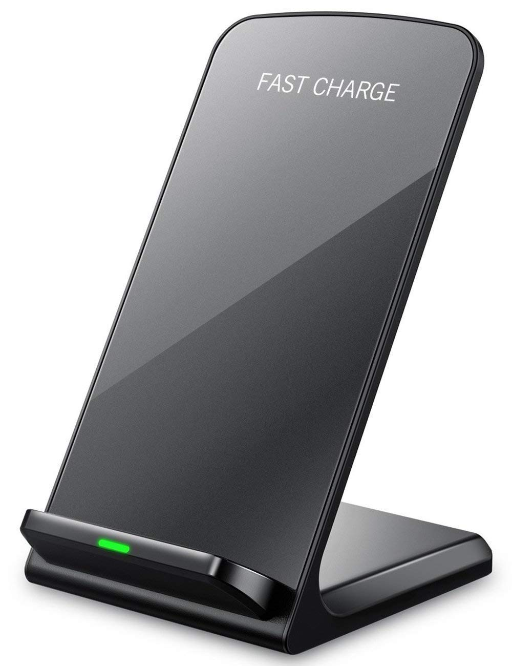 seneo black vertical wireless charging stand