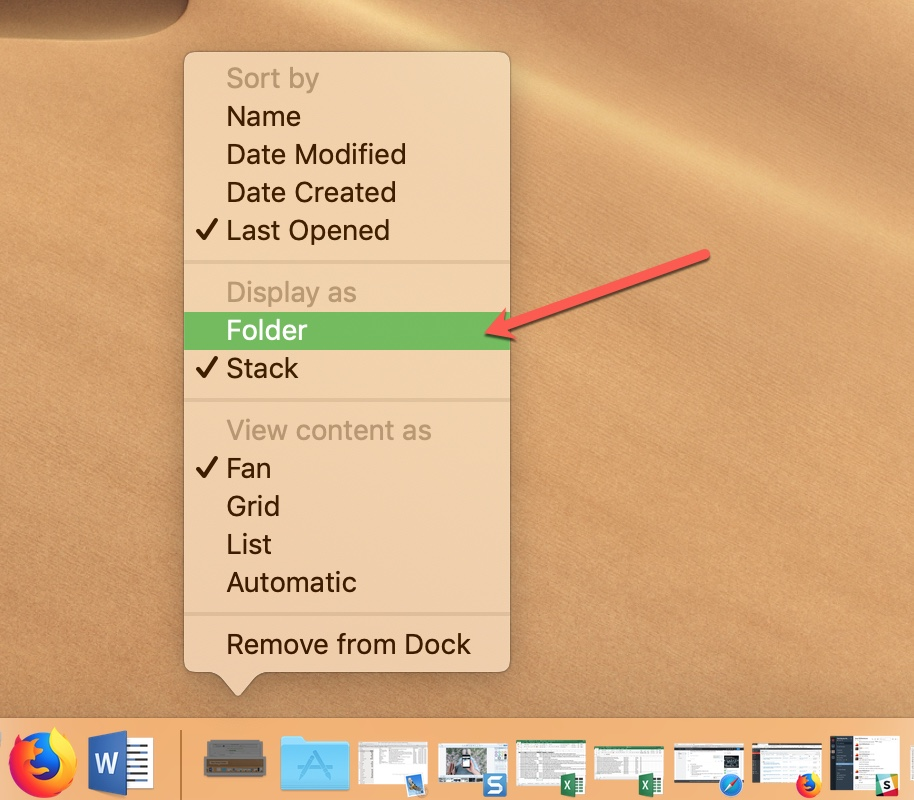 Change the Smart Folder to Folder Display