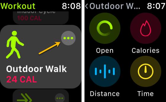 Workout App Apple Watch Access Distance Unit