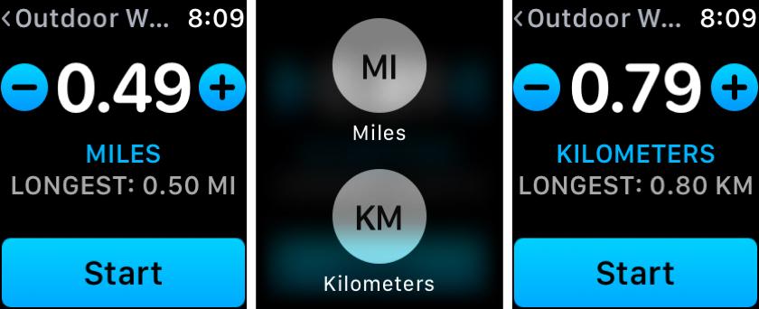 Workout App Apple Watch Change Distance Unit