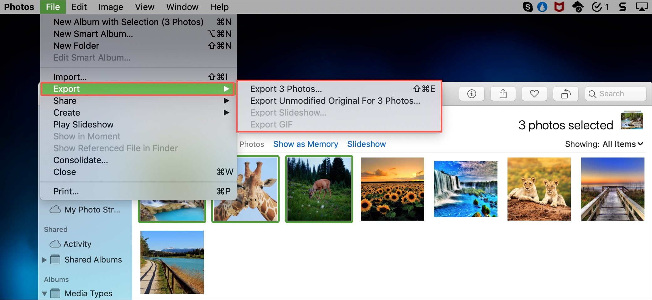 Download iCloud Photos on Mac