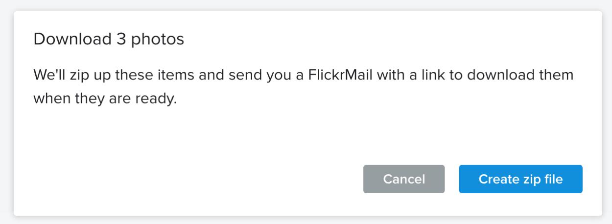 Flickr Create Zip File