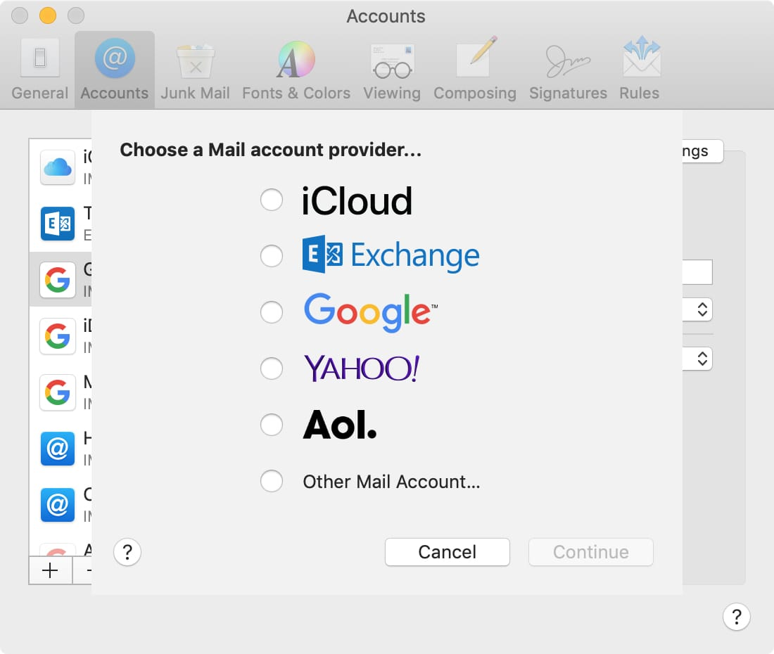 Types Of Email Accounts >> How To Add An Email Account To Mail On Iphone Ipad And Mac Mid