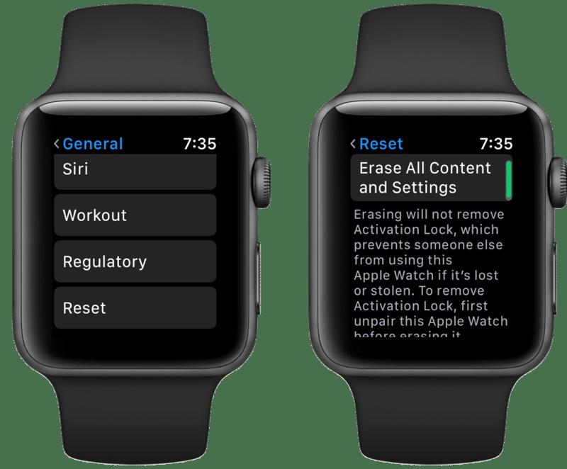 Apple Watch Reset Settings