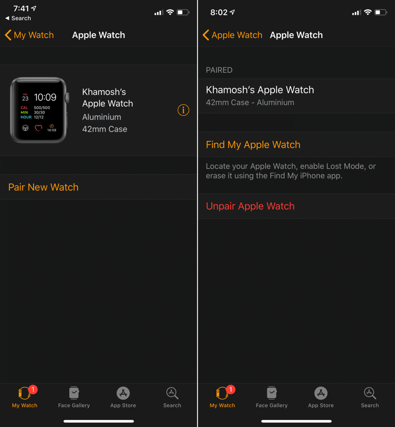 Unpair Apple Watch App