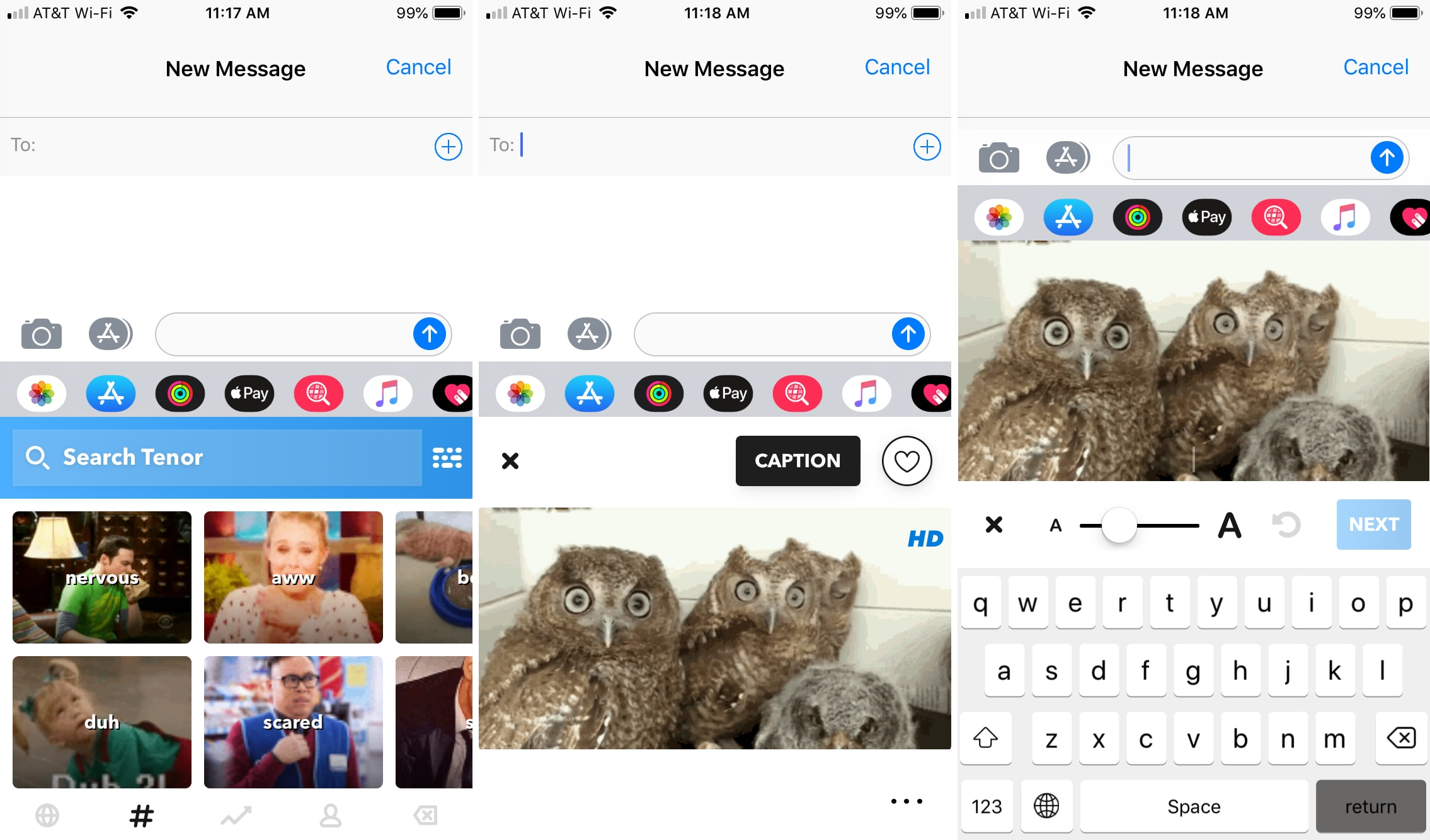 GIF keyboard for iPhone and iPad