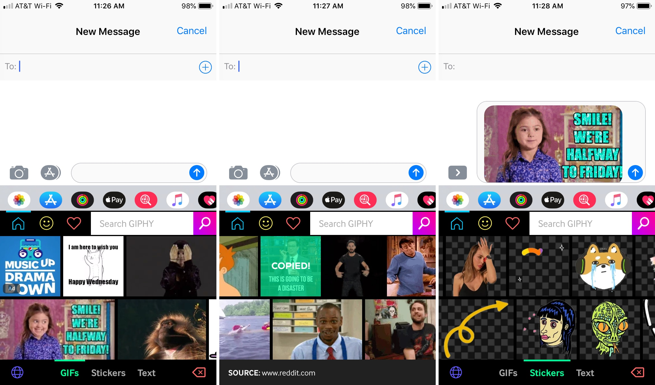 Giphy keyboard for iPhone and iPad