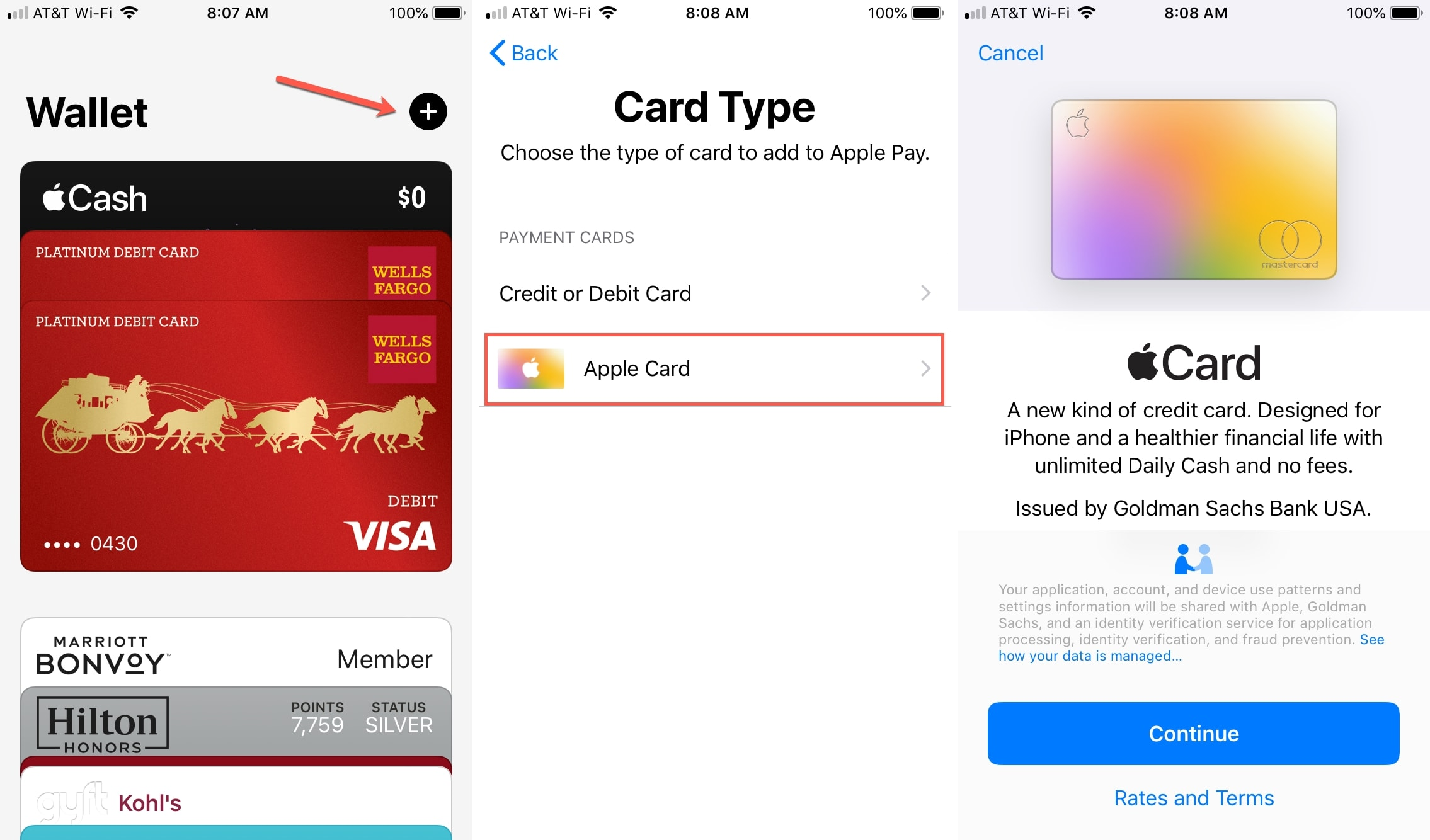 Apply for Apple Card Wallet