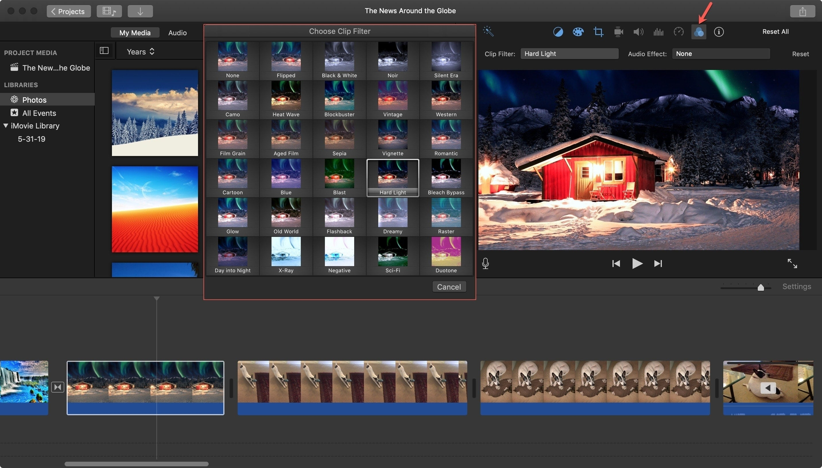iMovie Clip Filters Mac