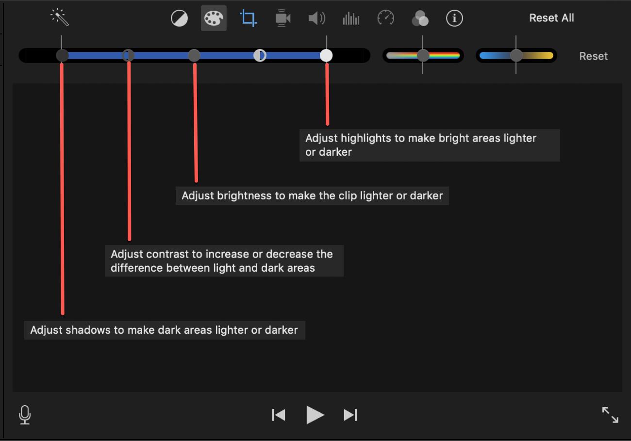 iMovie Color Corrections Mac