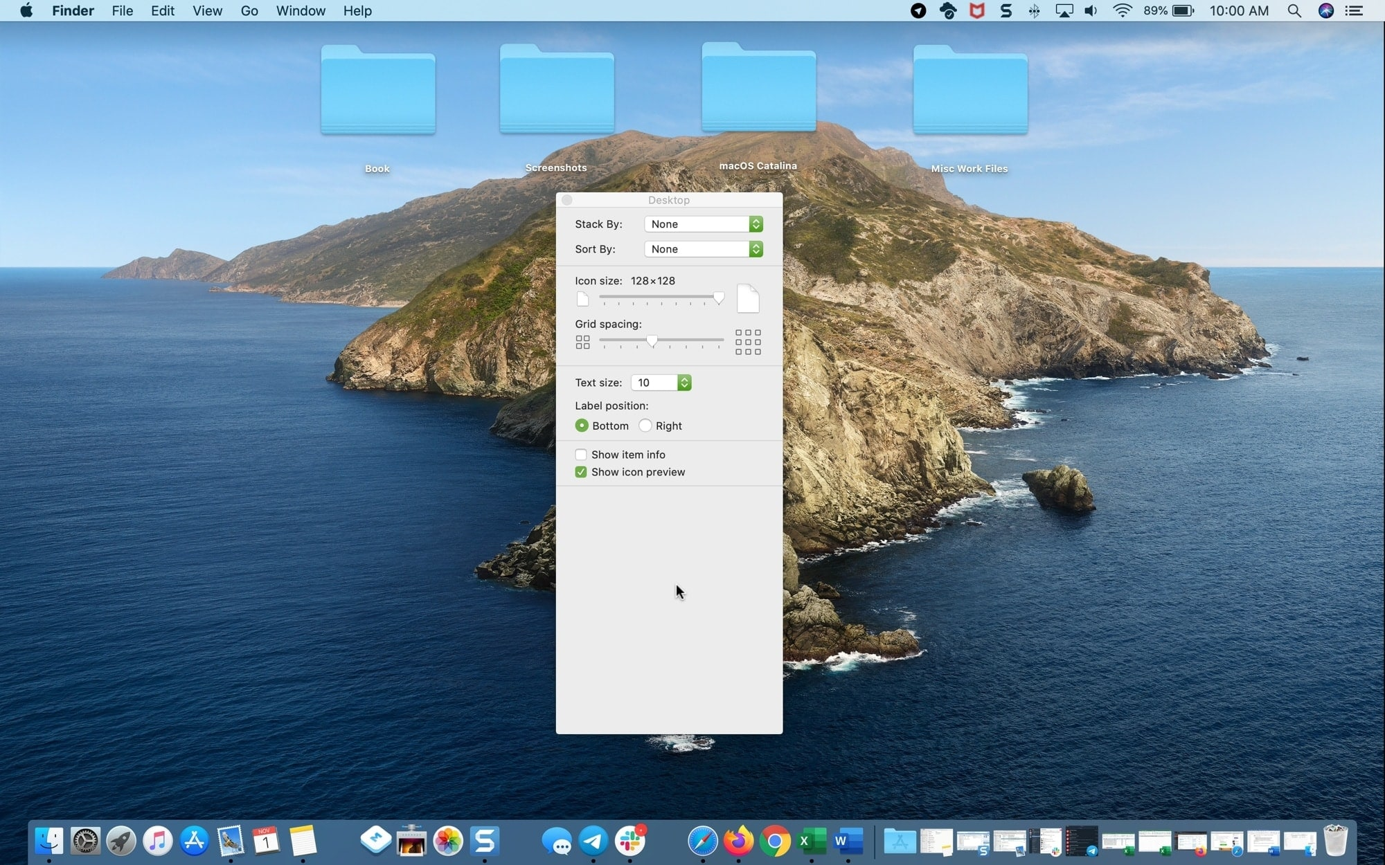 Large Icons Small Text Mac desktop