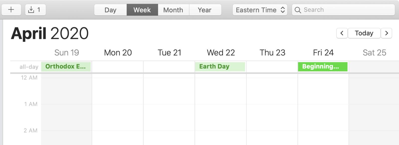 Calendar Mac All Day Events