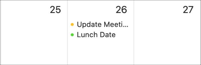 Calendar Mac Timed Events