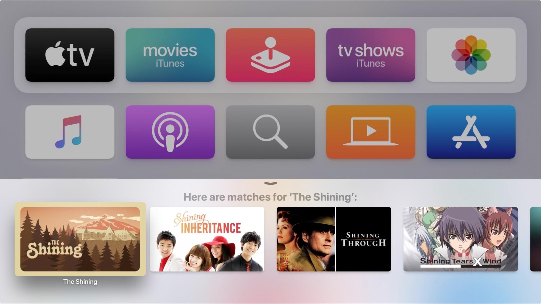 Search Movie Siri on Apple TV