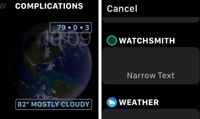 Watchsmith Add Astronomy Complication on Apple Watch