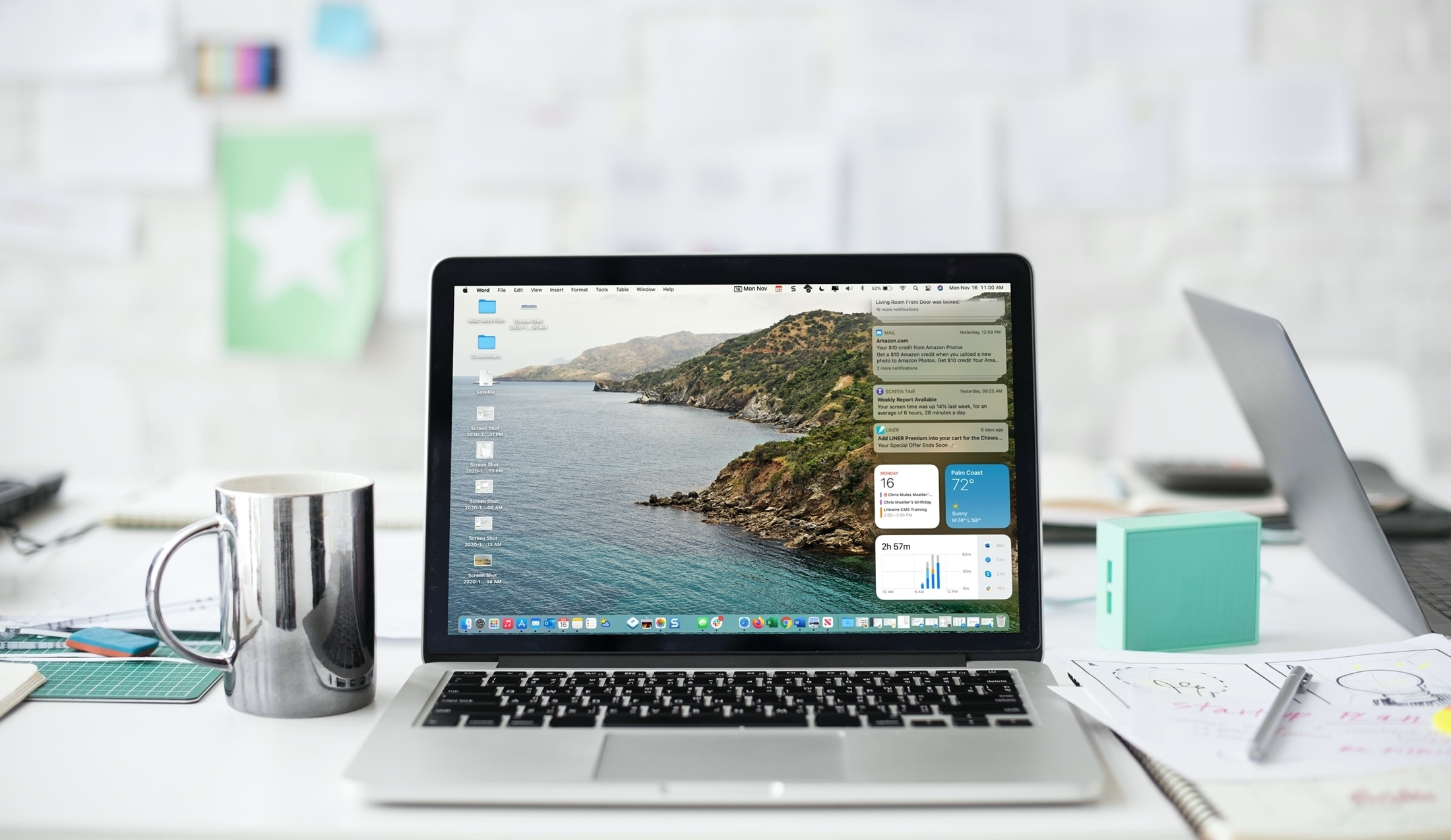 Notification Center on MacBook Pro with Big Sur