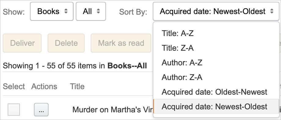 Amazon Sort Kindle Content