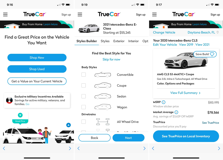 TrueCar on iPhone
