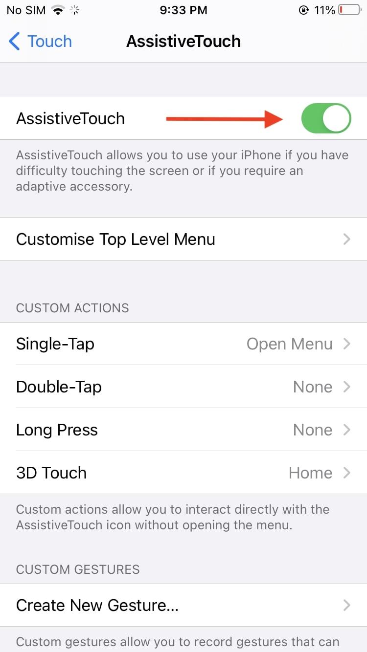 Enable  iPhone